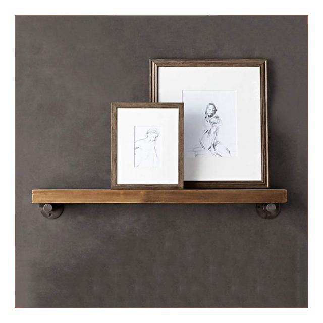 Mensola a Muro in Legno massello Creative Retro Display Frame Soggiorno cucina Camera Decorazione Rack 1103 Size 80 * 2 * 20cm