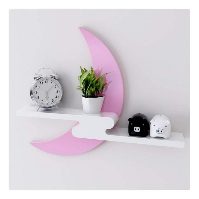 Mensola a Muro per Soggiorno Parete per Camera da Letto Sfondo Mensole Decorative Mensola per Cartoni Animati 49 * 49 * 8 cm 1226 Color Pink