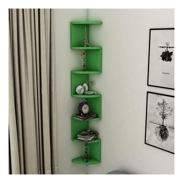 Mensola angolare da Parete libreria da Parete per Ufficio scaffale MultiStrato Semplice ed Elegante 1109 Color C