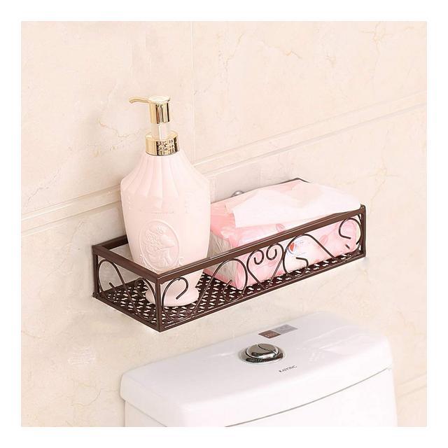 Mensola del metallo della cucina del salone del bagno della mensola Basamento cosmetico del basamento di immagazziggio di vanità 30405060 * 12 * 65cm 1107 Color A Size 60*12*65CM