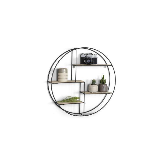 Mensole da Muro Rotonda Mensole da Muro Design Soggiorno Mensola da Parete con 4 Ripiani salvaspazio cucina e Camera da Letto Libreria Tonda da Parete
