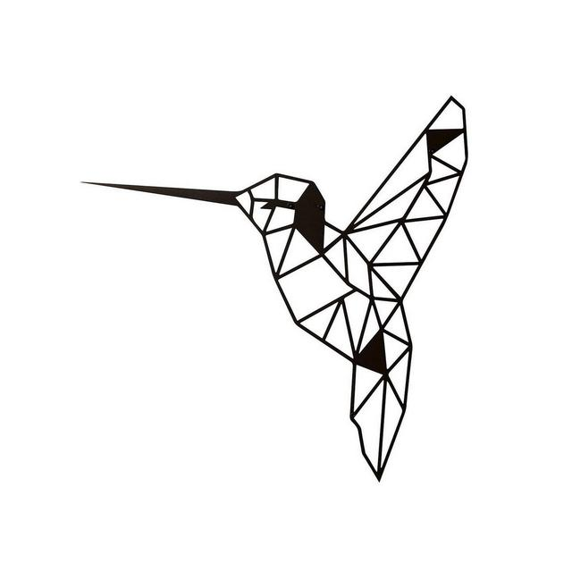 Metal Decor Bird Metallo Nero M