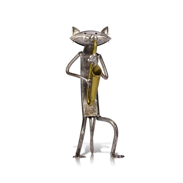 Metallo Scultura A Suore La Chitarra Gatto Arredamento per la casa Articoli Artigiato