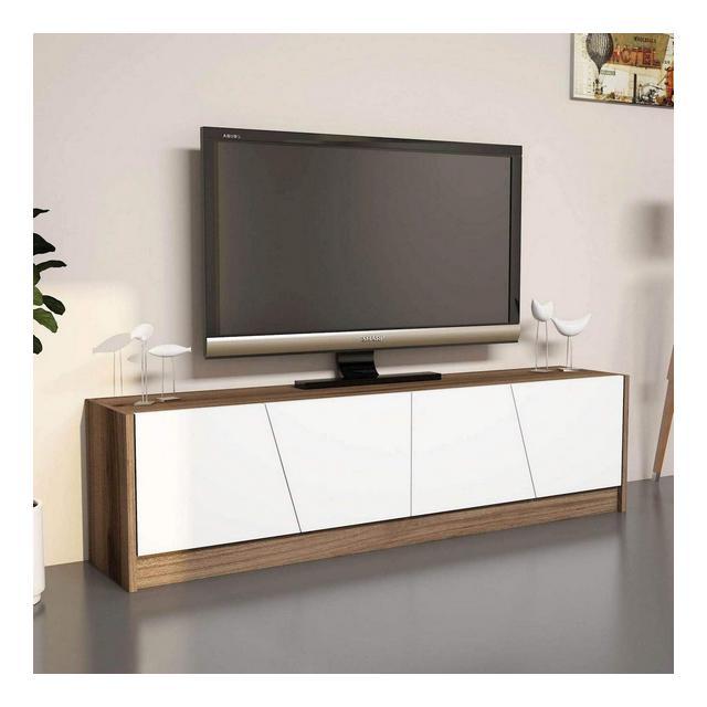 Mir by Home Mania Mobile TV Design Gold L 150 x H 40 cm Marrone Noce