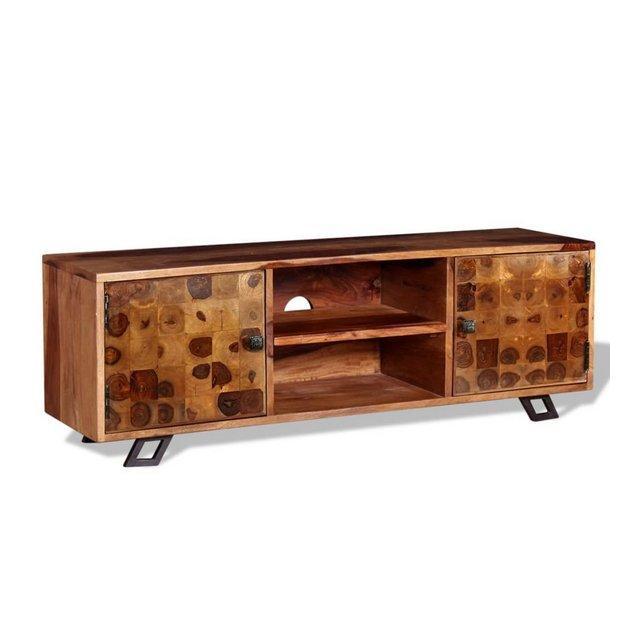 Mobile Porta TV in Legno di Sheesham 120x30x40 cm Mobiletto Credenza
