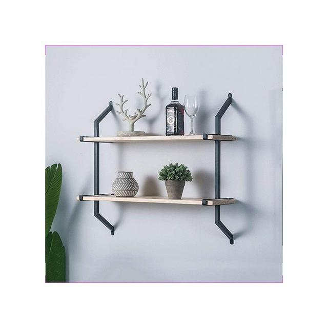 Modern Fashion Wall Shelf Soggiorno Camera da Letto Parete Storage Rack Ristorante Cafe Decorazione Ledge 1116 Color Gold Size 60 * 74cm