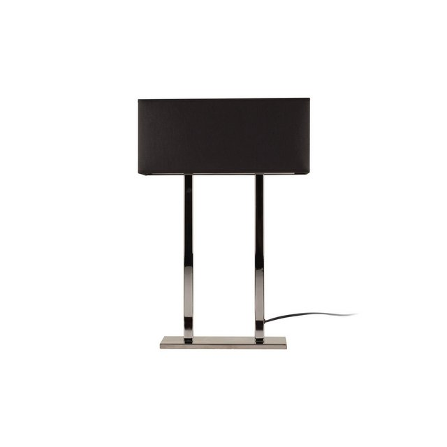 Modern Table Lampada da Tavolo Metallo CromoNero 52 cm Paralume 35 x 15 x 15 cm