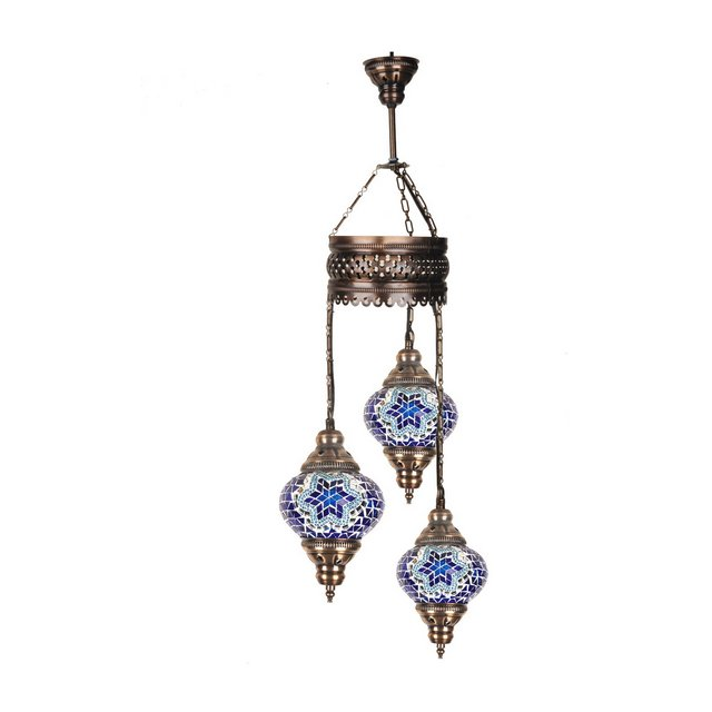 Mosaic Lamps Lampada Blu 13 cm H83 cm Adjustable