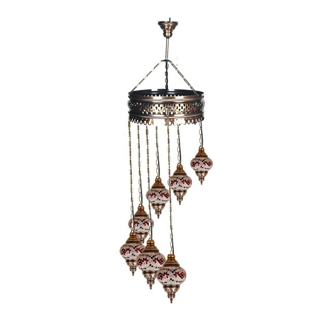 Mosaic Lamps Lampada Marrone 15 cm H133 cm Adjustable