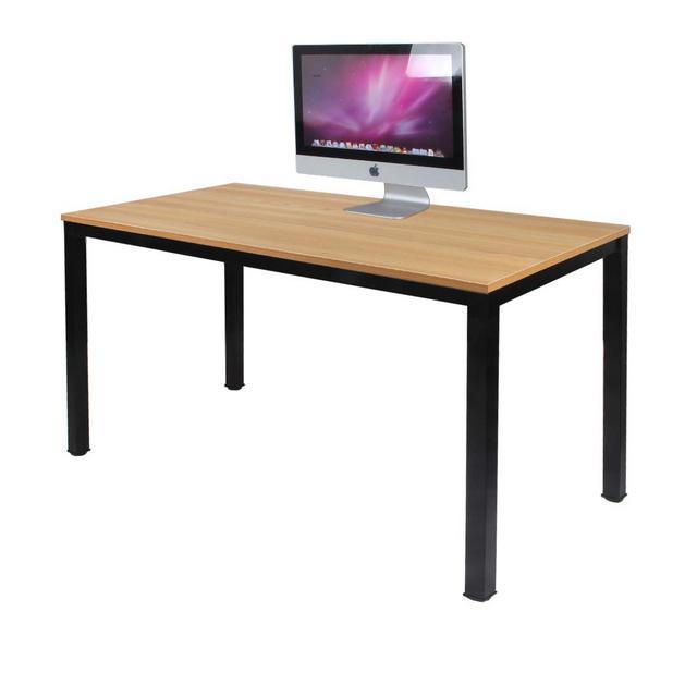 Need Scrivanie 120x60cm Ufficio Postazioni di Lavoro per Computer Scrivania PC Tavolo da Pranzo in Legno Scrivania Colore Rovere Teak