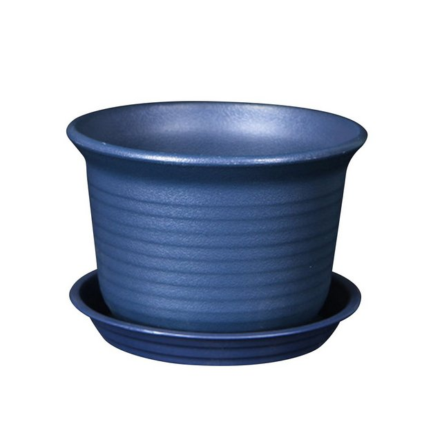 OUNO colorati in plastica vasi vaso ispessimento resi fiore asilo giardino vaso vaso di fiori vaso di fiori con Palette Gross albicocca Blau