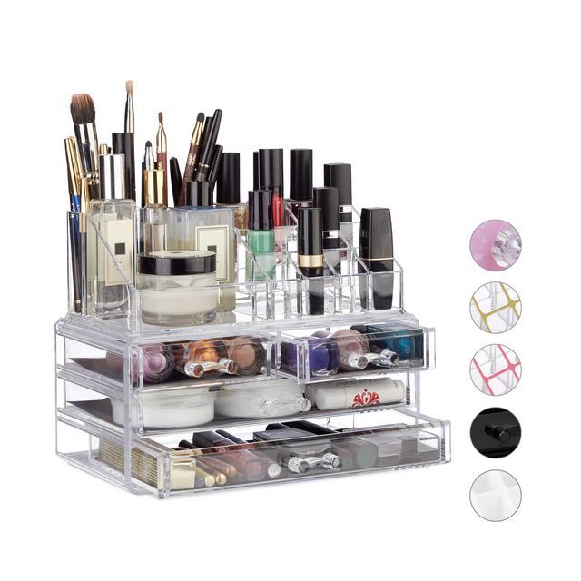 Organizzatore MakeUp con 4 Cassetti Trucchi Porta Rossetti