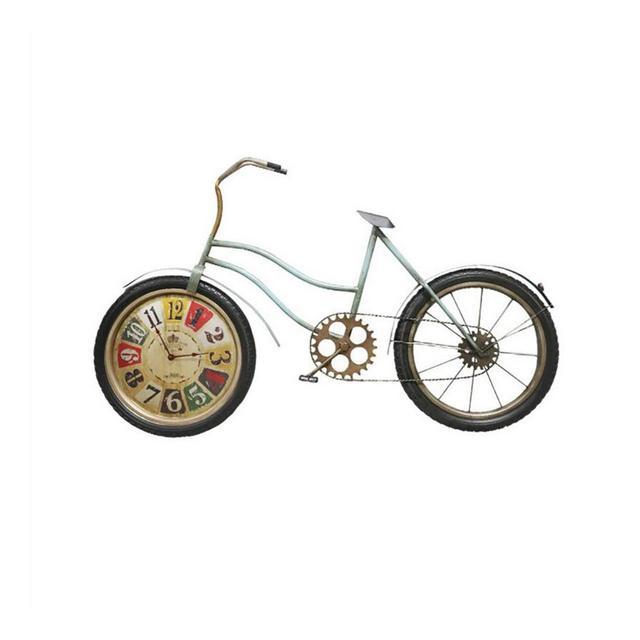 Orologio da Parete Industriale del Vento Ferro Battuto Biciclette Ristorante Casa Retro Decorazione della Parete 112 × 70 × 95 Centimetri Ciondolo Decorativo