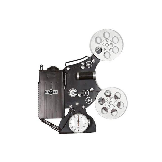 Orologio da Parete Proiettore Modello Ferro Battuto Decorativo Retro Home Bar Decorazione della Parete 495 × 8 × 60cm Ciondolo Decorativo