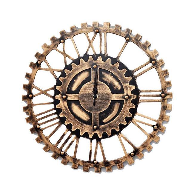 Orologio da Parete Vintage Industriale con Ingraggi d'Epoca Orologio da Parete con Decorazione Creativa Ciondolo Decorativo