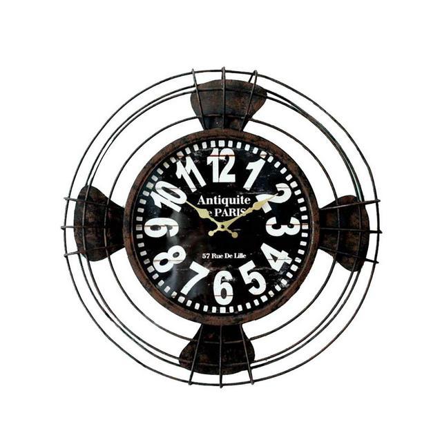 Orologio da Parete con Decorazione Creativa in Ferro battuto Vintage Americano Ciondolo Decorativo