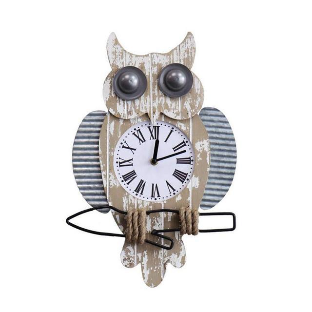 Orologio da Parete in Legno massello con Pendenti da Parete Orologio Creativo da Bar Decorazione Ciondolo Decorativo