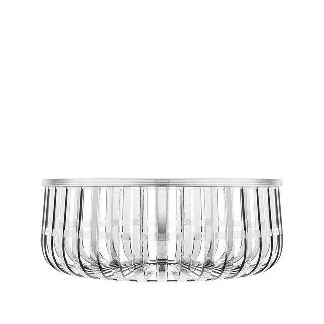 Panier Cesto Contenitore Trasparente Cristallo 61 X 21 cm
