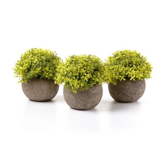 Piante Artificiali di Plastica Piante in Vaso Fiore Decorativo di Casa e Ufficio Giallo Confezione da 3