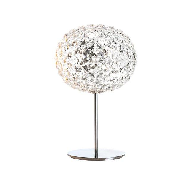 Planet LED lampada da tavolo con piede 33cm Design kristallH 53cm  33cmStandfuß silberfarben