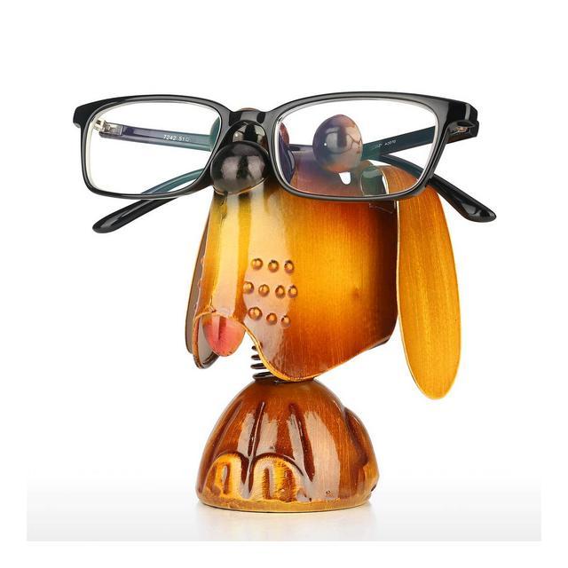 Porta Occhiali Cucciolo di Cane Supporto per Animali Supporto per Occhiali Scultura in Ferro Artigiato Artigiato Occhiali da Sole Display Decorazioni per la Casa Ideale per Ragazza