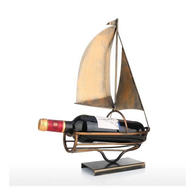 Portabottiglie per Vino dal Design Portabottiglie da Vino a Vela Iron Art Portabottiglie da Vino Creativo Europeo Portabottiglie Classico Decorazione Pratica Champagne e Nero