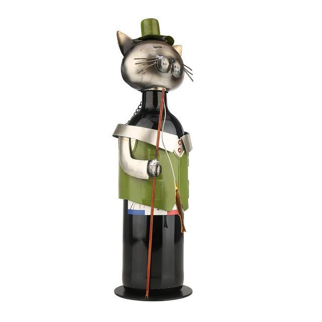 Portabottiglie per Vino dal Design Portabottiglie per Vino da Pesca Cat Pickup Vintage Cat Portabottiglie Statua O Portabottiglie Decorativo