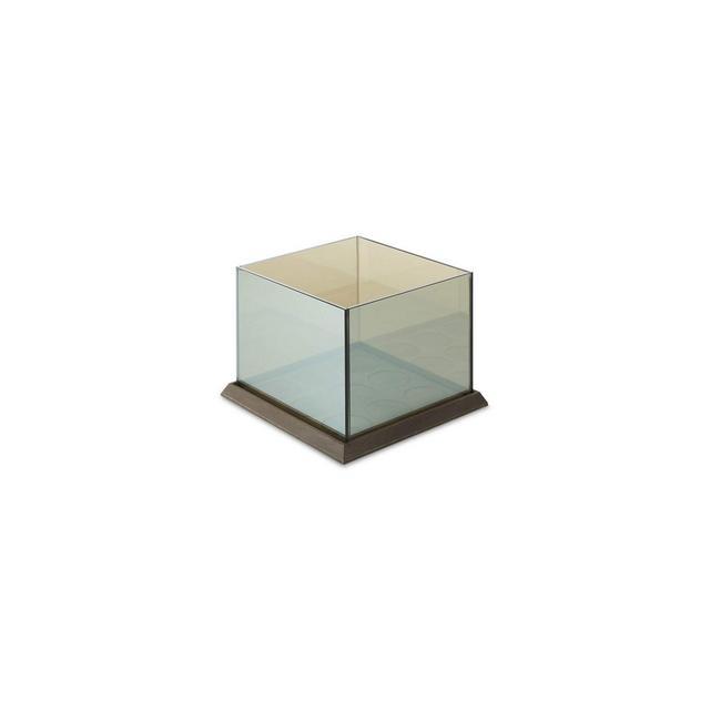 Portacandele cubico in Vetro Portacandele a Specchio Portacandele Effetto 3D Max 9 Candele 20 x 20 x 155 cm