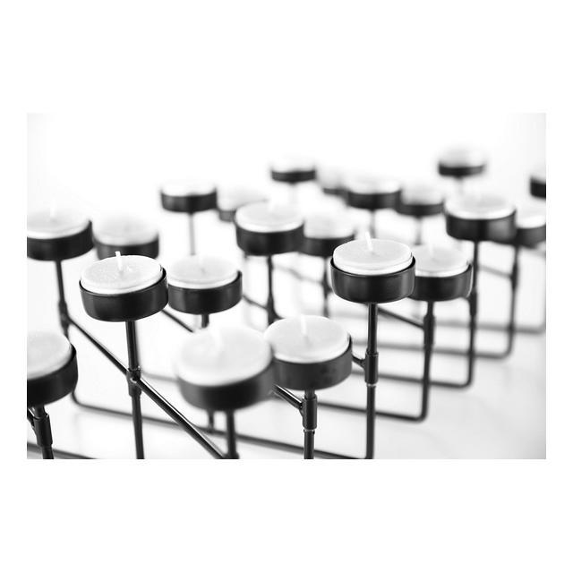 Portalumini Portacandele a Fisarmonica Portacandele Nero in Metallo per Soggiorno Camera da Letto Salotto Portalumini per 22 o 10 Candele 22 Candele