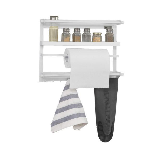 Portaoggetti per la frigo con magnetiMensola da cucinaL47cmbianco FRG247W