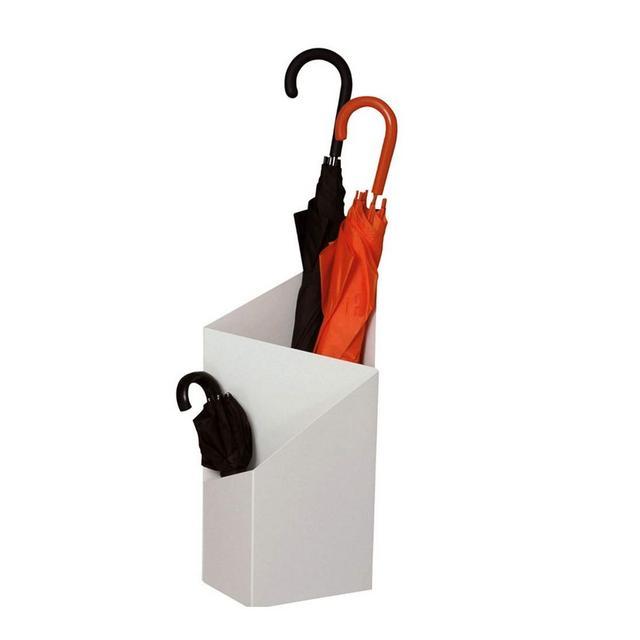 Portaombrelli Ferro Battuto Portaoggetti Creativo di Grande capacità Geometrica Home Business 2 Colori 20X25X60 CM Color White