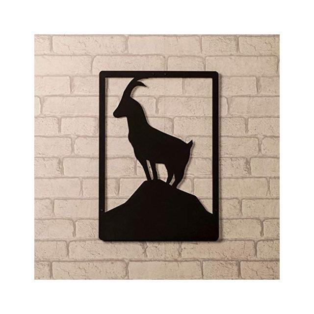 Quadro Decorazione Da Parete In Metallo Animals Capra Nero Arte Casa Decoro Per Soggiorno Ufficio Muro
