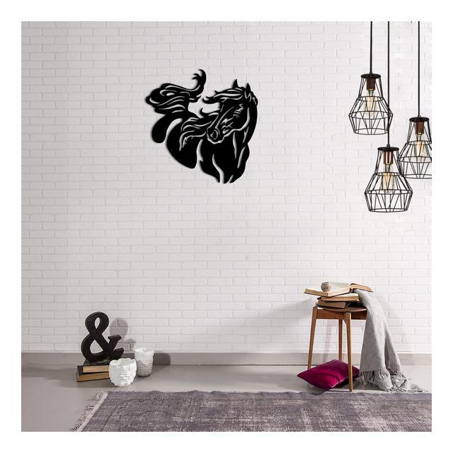 Quadro Decorazione Da Parete In Metallo Animals Cavallo Nero Arte Casa Decoro Per Soggiorno Ufficio Muro