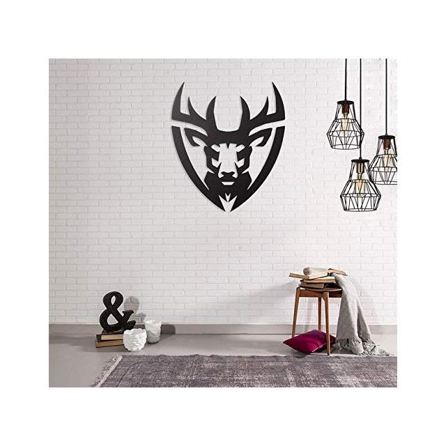 Quadro Decorazione Da Parete In Metallo Animals Deer Nero Arte Casa Decoro Per Soggiorno Ufficio Muro