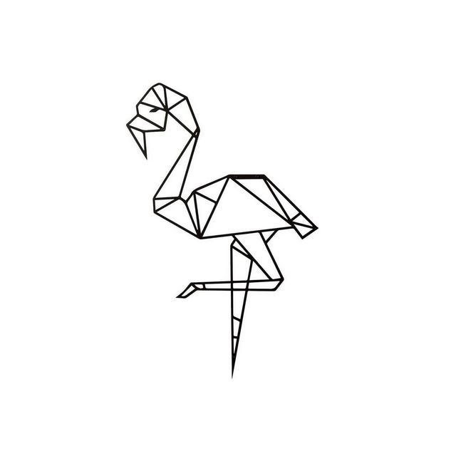 Quadro Decorazione Da Parete In Metallo Animals Flamingo Nero Arte Casa Decoro Per Soggiorno Ufficio Muro