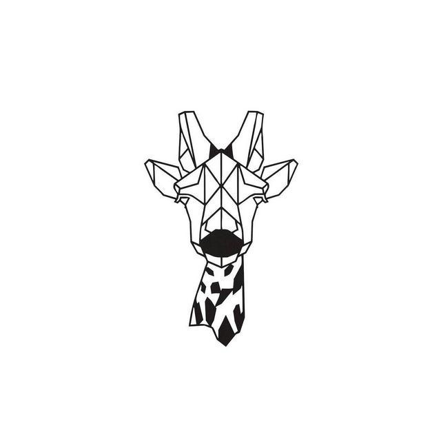 Quadro Decorazione Da Parete In Metallo Animals Giraffe Nero Arte Casa Decoro Per Soggiorno Ufficio Muro
