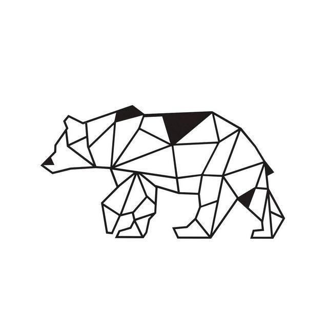 Quadro Decorazione Da Parete In Metallo Animals Orso Nero Arte Casa Decoro Per Soggiorno Ufficio Muro