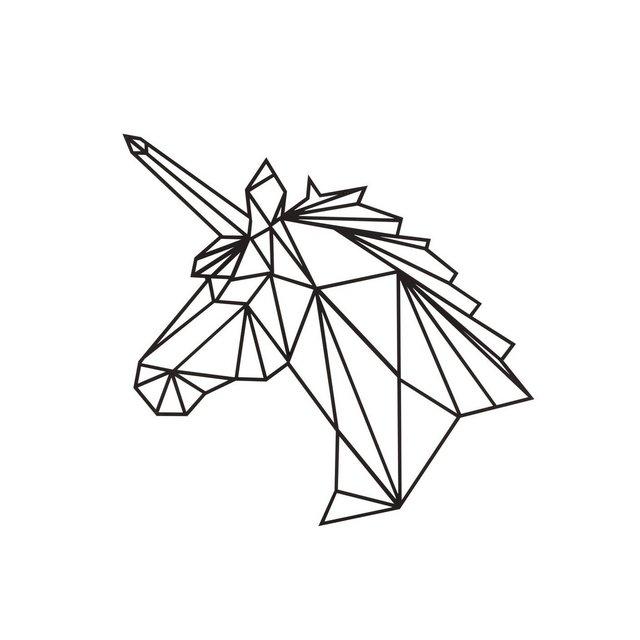 Quadro Decorazione Da Parete In Metallo Animals Unicorno Nero Arte Casa Decoro Per Soggiorno Ufficio Muro