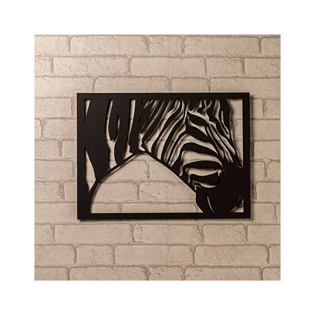 Quadro Decorazione Da Parete In Metallo Animals Zebra Nero Arte Casa Decoro Per Soggiorno Ufficio Muro