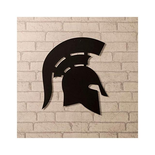 Quadro Decorazione Da Parete In Metallo Art And Graffiti Spartano Nero Arte Casa Decoro Per Soggiorno Ufficio Muro
