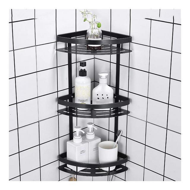 Rack a Parete in Metallo Semplice MultiFunzione Mensola da Muro Bagno Bedroom Foyer Storage Rack 1107 Size 29 * 22 * 60cm