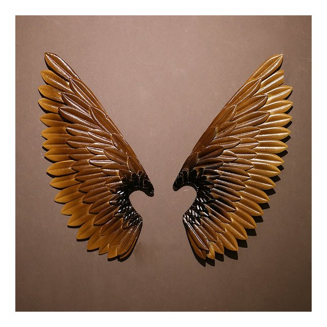 Retro decorazione della parete di stile industriale del sottotetto ali di angelo di ferro battuto del bar del ristorante decorazione creativa della parete ciondolo decorativo