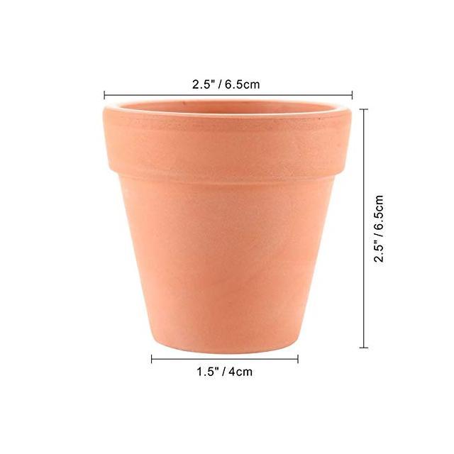 SANHOC 12pcs Artigiato Terracotta Argilla Flowerpot Nursery Fiore pianta Pot Ceramica Bonsai per Cactus Succulente Garde fioriera Type02