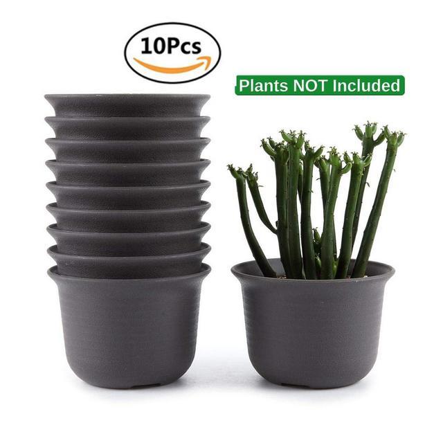 SONIRY Nursery vasi per Piante vasi di plastica Rotonda Fiore Pianta grassa Vaso Bonsai Flowerpot Planter Decorazione 10pcs Lot Stati Uniti Type13