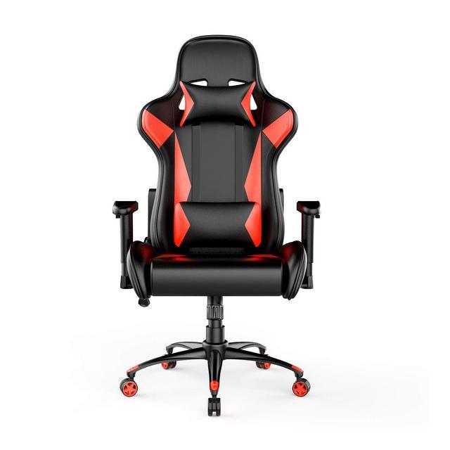 Sedia da ufficio e da Gaming design Racing in pelle PU rosso