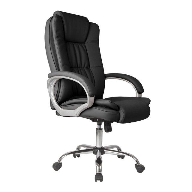 Sedia direziole da ufficio Confort 2 regolabile in pelle sintetica Nero