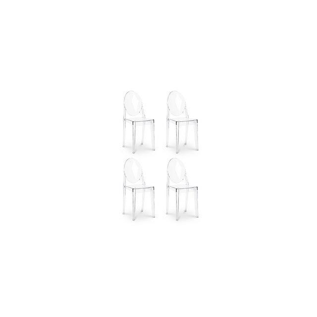 Sedie Victoria Ghost ispirate a Philippe Starck x4