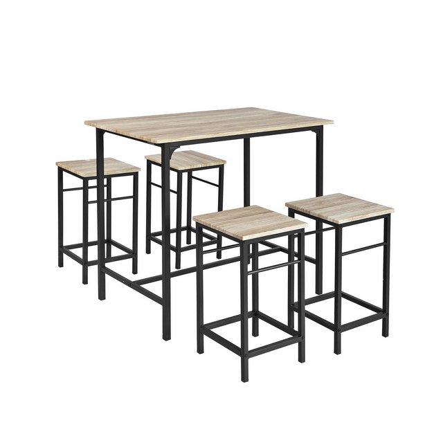 Set 5 pezzi Tavolo con 4 sgabelli Set di mobili da balconeOGT11NIT