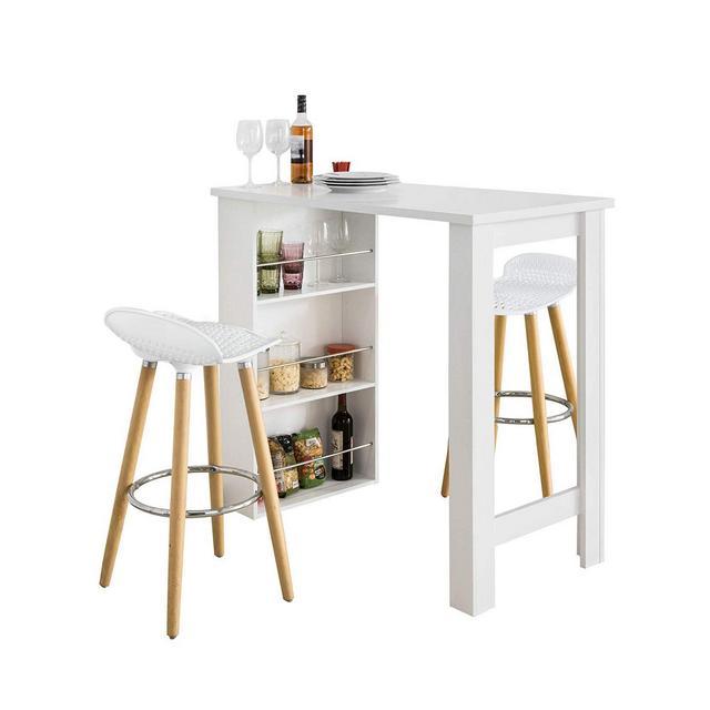 Set Tavolo Alti da Bar con 2 sgabelli Tavolo cucina con sedieTavolo