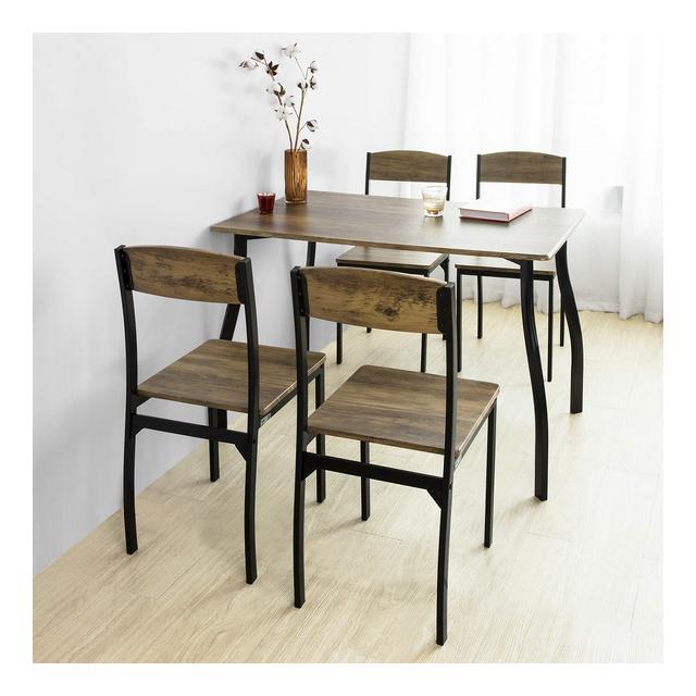 Set Tavolo da Pranzo con 4 sedie Tavolo e sedie cucina Stile Vintage